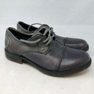 bed stu mens gray oxfords shoes distressed sz 9.5